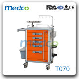 Hospital multifuncional carrinho de emergência do paciente ABS Trolley com Marcação ce&ISO aprovado