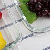 530ml vierkante Hittebestendige Doos 21102 van de Lunch van de Container van de Lucht van het Glas Strakke