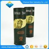Kundenspezifisches dekoratives Papierwein-Geschenk-rundes Pappgefäß