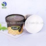 Taza de papel disponible impresa aduana del helado con las tapas