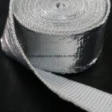 Band op hoge temperatuur van de Glasvezel van de Stralingshitte de Weerspiegelende Aluminiumfolie Met een laag bedekte