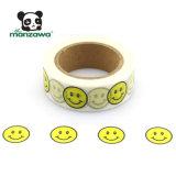 デザインOEMの微笑の表面Emoji普及したパターン付着力の覆うペーパーフィリピンWashiテープ