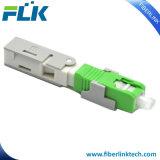 FTTH Sc/APC/UPC rápido de fibra óptica Conector rápido montaje en campo