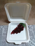Desechables biodegradables de almidón de maíz Lunch Box 10 pulg.