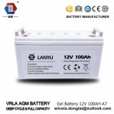 AGM de Zonne Zure Batterijen van het Lood van de Batterij 12V 100ah Verzegelde/Lanyu100A001