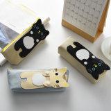 Plumier mignon de toile de modèle de chat du plus défunt cadre de papeterie