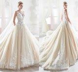 Sleeveless Brautkleid-lange Hülsen-Sahneballkleid-Hochzeits-Kleid Yao56