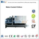 Chiller de parafuso arrefecidos a água industrial para máquina de injeção