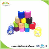 Sans latex Non-Woven coton / cohésive auto bandage souple adhésif