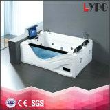 Grandi formati della vasca da bagno di K-8938A con 2 sedi, vasca da bagno per due persone di lusso, vasca da bagno acrilica di massaggio con la TV