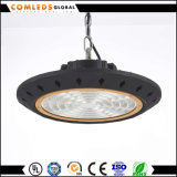 SAA 세륨 RoHS Dimmable 100W IP65 UFO E40 LED Highbay 빛
