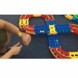 DIY 궤도 전기 슬롯 가로장 경마장 속도 차내 광고물 통제 아이 장난감