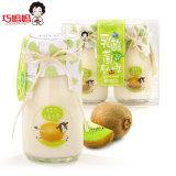 Form-Glasflaschen-süsser Kiwi-Frucht-Marmeladen-Milchsäurebazillus-Pudding