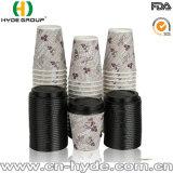 Impreso en papel rizado aislado tazas de café