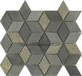 インテリア・デザインのためのひし形のダークグレーの自然な大理石のモザイク