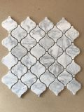 벽 훈장을%s 이탈리아 백색 Carrara 대리석 당초무늬 또는 손전등 베니어 모자이크 타일
