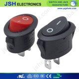 Bouton rouge de verrouillage interrupteur à bascule de 12V