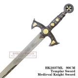 Espada 90cm HK20737ml do cavaleiro de Templar Swordmedieval