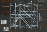 직류 전기를 통한 유럽 유형 Layher 프레임 비계