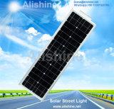 Energiesparendes LED-Solarstraßenlaterne60W einteilig/mit Lithium-Ionbatterie-Monopanel integriert