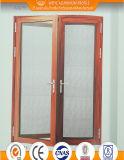 高品質のステンレス鋼のネットが付いている熱壊れ目の開き窓のドア