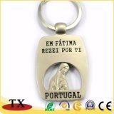 Lingüeta de metal personalizado Suit Roupas Chaveiro com tampa