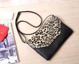 Saco clássico fêmea do partido das bolsas de couro do plutônio das mulheres do teste padrão do leopardo dos sacos da senhora noite (WDL0963)