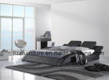 Re molle modulare Size Italian Leather Bed dell'insieme di camera da letto