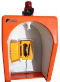 Cabine de téléphone d'urgence capot acoustique-13A RF résistante aux intempéries
