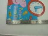 Livro de relógio de crianças com impressão de OEM