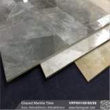 Серый цвет с остеклением мраморный полированный пол из фарфора плиткой (VRP6H185)