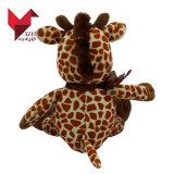 Beaux jouets de giraffe de peluche d'animaux de zoo
