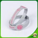 Kundenspezifisches Debossed Firmenzeichen-Farbe gefülltes Silikon-Armband