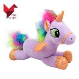 Brinquedo macio do unicórnio cor-de-rosa de Hotsale do preço de fábrica para o bebé