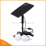 Lumière actionnée solaire d'intérieur de lampe de deux ampoules de DEL pour camper de jardin