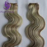 ブラジルのRemyの毛のピアノカラーボディ波状毛のよこ糸