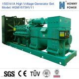 1500kVA de Reeks van de Generator van de hoogspanning 10-11kv met Googol Motor 50Hz