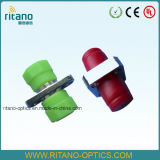 Adaptador cuadrado del metal de la carrocería sólida del cable óptico de la fibra del SM FC/PC