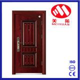 Porte extérieure de garantie en acier pour la porte d'appartement