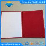Kundenspezifischer Bescheinigungs-Diplom-Deckel des Leder-A4 mit heißem stempelndem Firmenzeichen