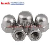 DIN1587 강철 도금되는 육각형에 의하여 반구형으로 하는 모자 견과 고급장교