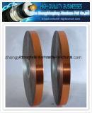 Folha de cobre da película de poliéster Cu/Pet da estratificação da folha para o cabo