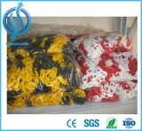 Farbige Plastikkette/Verkehr, der gelbe Sicherheitskette warnt