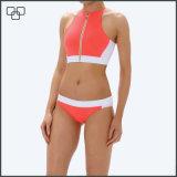 De privé Hoogste Bikinis van het Gewas van de Hals van het Af:drukken van de Douane van het Etiket Hoge