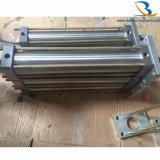 Action en aluminium de cylindre hydraulique de tige de renfort de foule double