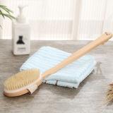 Le setole naturali molli appoggiano la spazzola con la maniglia lunga per i branelli Exfoliating di legno & della pelle per il massaggio