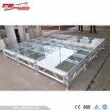 Соберите этап акрилового стекла для крытой выставки случая гостиницы