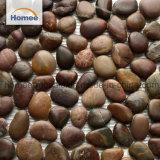 Mosaico de piedras decorativas irregulares cayó River Rock mosaico de piedra de mármol blanco