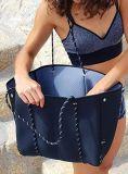큰 부랑자 디자이너 어깨는 길쌈하는을%s 공백 관통되는 내오프렌 끈달린 가방을 전송한다