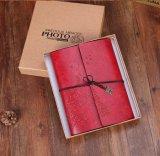 Espiral Vintage diario de cadena en blanco el Bloc de notas cuaderno de bocetos, Bloc de notas diario de cuero